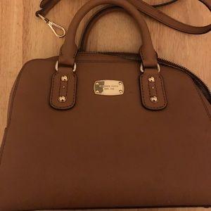 Michael Kors Handbag Purse Tan Satchel Shoulder
